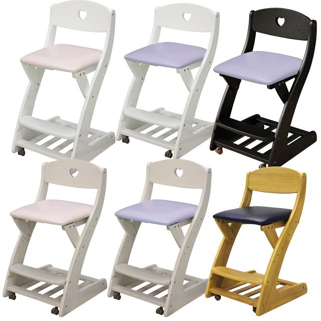 木製チェア 学習チェア キャスター付き WC-16PVC 木製 子供用 椅子 ラバーウッド 座面PVC 木製チェア チェア 学習イス 勉強イス ダイニングチェア キッズ家具 子供部屋用