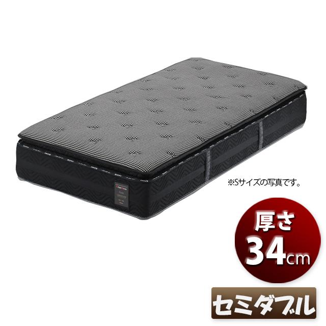 マットレス セミダブル ポケットコイルマットレス 厚さ34cm ベッドマットレス セミダブルマットレス 国産