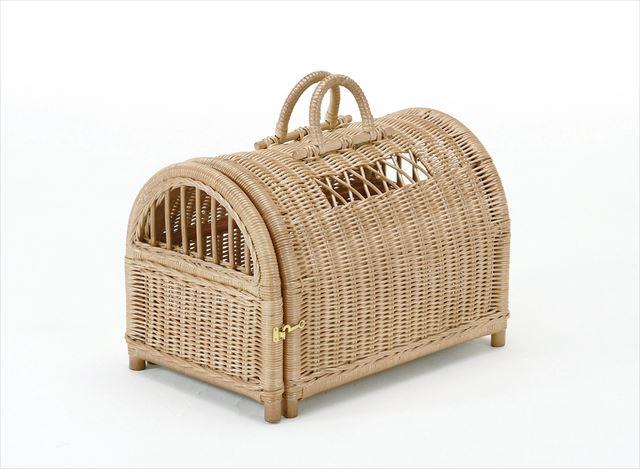 (ペットハウス R-281)ブラウン 籐 籐家具 ペットハウス 和風リビングルーム籐(ラタン)製 輸入品 完成品 【smtb-MS】