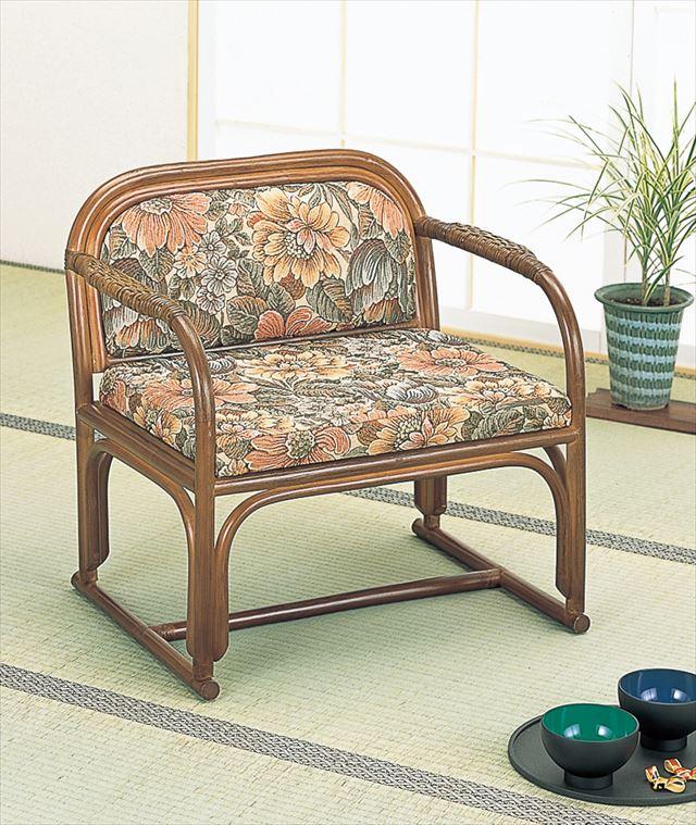 【送料無料】 籐便利座椅子 S-112B ブラウン 籐 籐家具 座椅子 椅子 イス 和風リビングルーム籐 ラタン 製 輸入品 完成品
