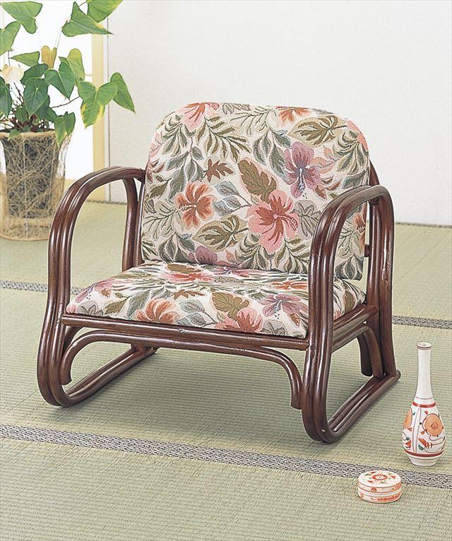 籐デラックス思いやり座椅子 ロータイプ S-123 ブラウン 籐 籐家具 座椅子 椅子 イス 和風リビングルーム籐 ラタン 製 輸入品 完成品