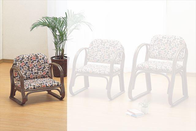 籐思いやり座椅子 ロータイプ S-211B ブラウン 籐 籐家具 座椅子 椅子 イス 和風リビングルーム籐 ラタン 製 輸入品 完成品