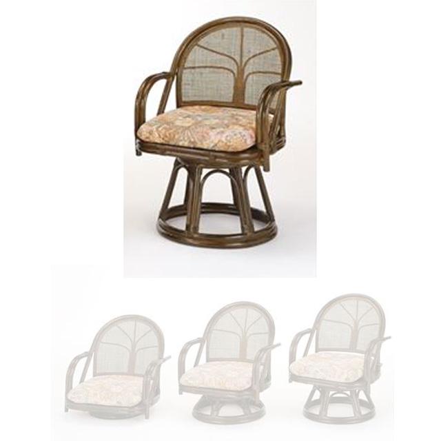 回転座椅子ハイタイプ S-304B ブラウン 籐 籐家具 座椅子 椅子 イス 回転式 和風リビングルーム籐 ラタン 製 輸入品 完成品