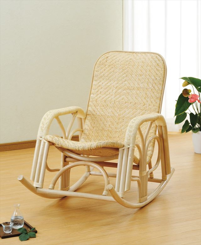 【送料無料】 ロッキングチェアー S-339 ナチュラル 籐 籐家具 椅子 イス ロッキングチェア 和風リビングルーム籐 ラタン 製 輸入品 完成品