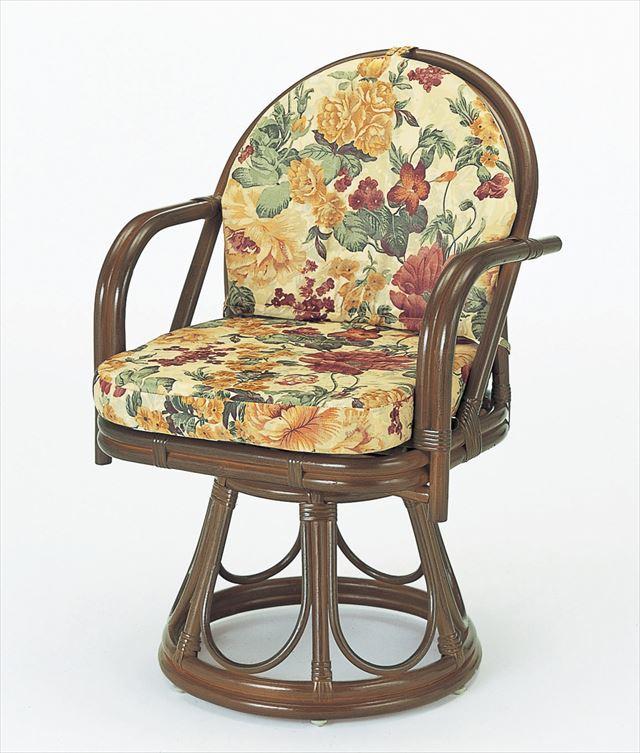 回転座椅子ハイタイプ S-544B 籐 驚きの価格が実現 籐家具 座椅子 椅子 イス 回転式和風リビングルーム籐 ブラウン 完成品 回転式 製 5☆好評 和風リビングルーム籐 輸入品 ラタン