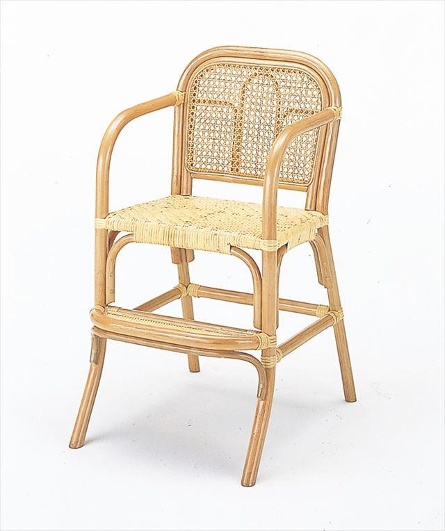 【送料無料】 籐子供イス ハイタイプ S-566 ナチュラル 籐 籐家具 子供椅子 椅子 イス 和風リビングルーム籐 ラタン 製 輸入品 完成品