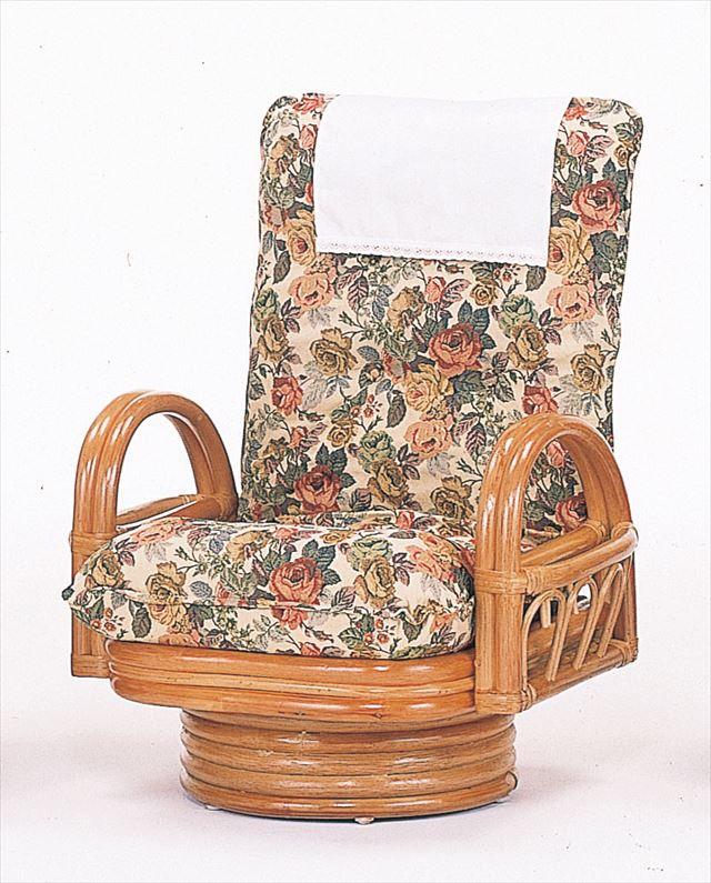 籐リクライニング回転座椅子 ミドルタイプ S-592 ライト 籐 籐家具 座椅子 椅子 イス 日本正規品 回転式 製 リクライニング チェア 激安通販ショッピング 完成品 ライトブラウン チェア和風リビングルーム籐 輸入品 ラタン 和風リビングルーム籐
