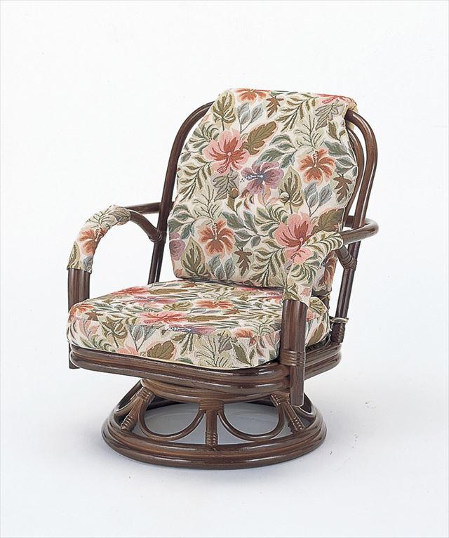 回転座椅子ミドルタイプ S-652B 籐 籐家具 座椅子 椅子 イス 回転式和風リビングルーム籐 ブラウン 出群 回転式 輸入品 完成品 ラタン 驚きの値段 製 和風リビングルーム籐