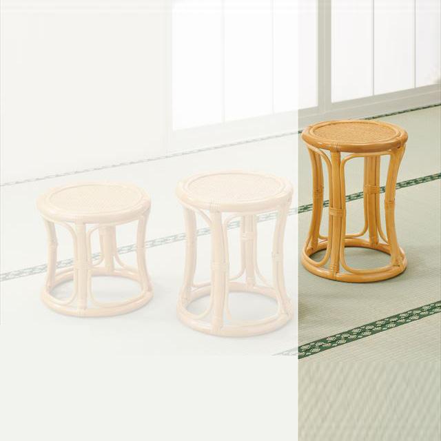 スツールハイタイプ S-5702 ライトブラウン 籐 籐家具 スツール 椅子 イス 和風リビングルーム籐 ラタン 製 輸入品 完成品