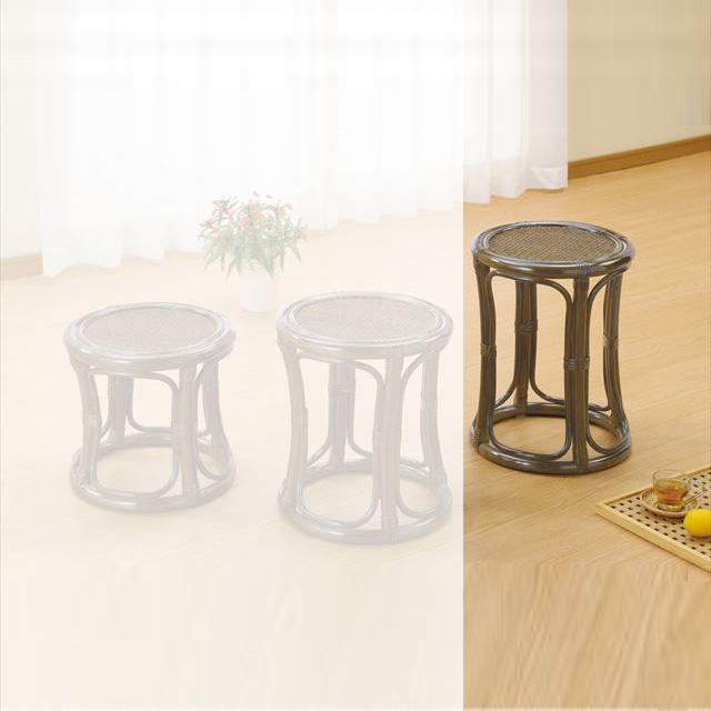 スツールハイタイプ S-5712B ブラウン 籐 籐家具 スツール 椅子 イス 和風リビングルーム籐 ラタン 製 輸入品 完成品