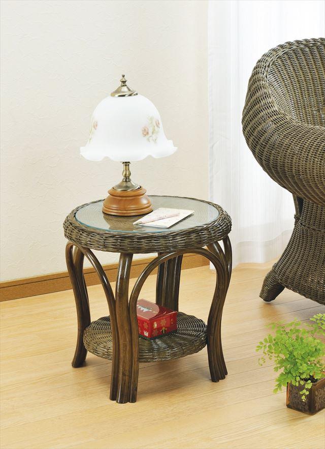 【送料無料】 籐テーブル ロータイプ T-50B ブラウン 籐 籐家具 テーブル 和風リビングルーム籐 ラタン 製 輸入品 完成品