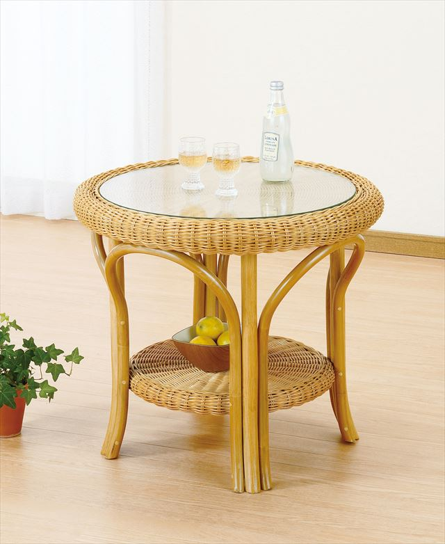 テーブル T-127 ライトブラウン 籐 籐家具 テーブル センターテーブル リビングテーブル アジアンリビングルーム籐 ラタン 製 輸入品 完成品:ミキティの激安家具SHOP