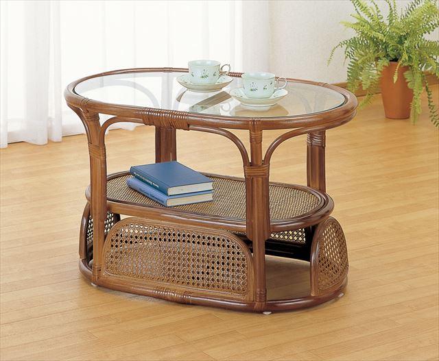【送料無料】 テーブル T-470B ブラウン 籐 籐家具 テーブル センターテーブル リビングテーブル アジアンリビングルーム籐 ラタン 製 輸入品 完成品