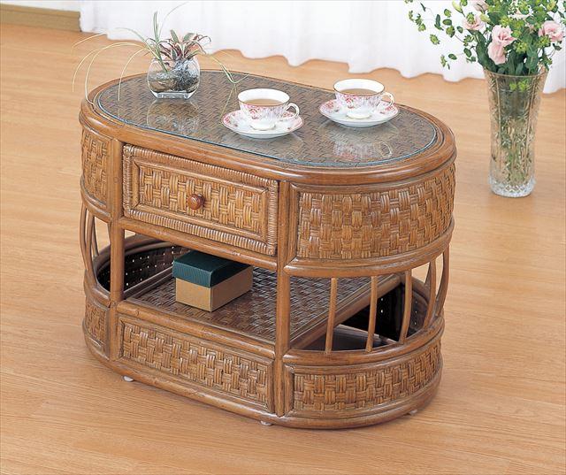 【送料無料】 テーブル T-701 ブラウン 籐 籐家具 テーブル センターテーブル リビングテーブル アジアンリビングルーム籐 ラタン 製 輸入品 完成品