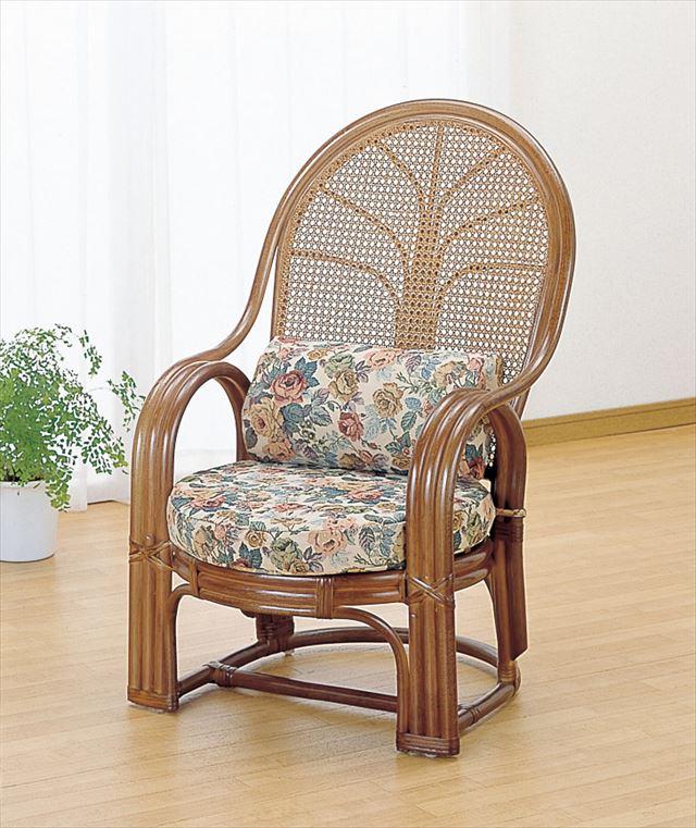 【送料無料】 アームチェアー TK-667B ブラウン 籐 籐家具 座椅子 椅子 イス アジアンリビングルーム籐 ラタン 製 輸入品 完成品
