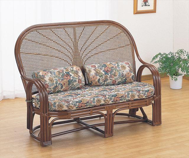 ラブチェア TK-668B 籐 ※アウトレット品 籐家具 座椅子 椅子 イス ソファアジアンリビングルーム籐 アジアンリビングルーム籐 期間限定 ブラウン 完成品 ソファ ラタン ラブチェアー 製 輸入品