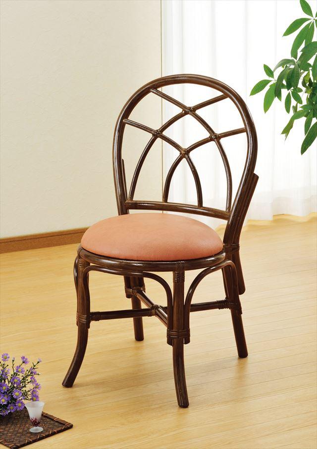 ダイニングチェア U-99B ブラウン 籐 籐家具 ダイニング チェア 椅子 イス アジアンリビングルーム籐 ラタン 製 輸入品 完成品