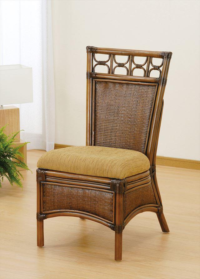 【送料無料】 ダイニングチェア U-1002 ブラウン 籐 籐家具 ダイニング チェア 椅子 イス アジアンリビングルーム籐 ラタン 製 輸入品 完成品