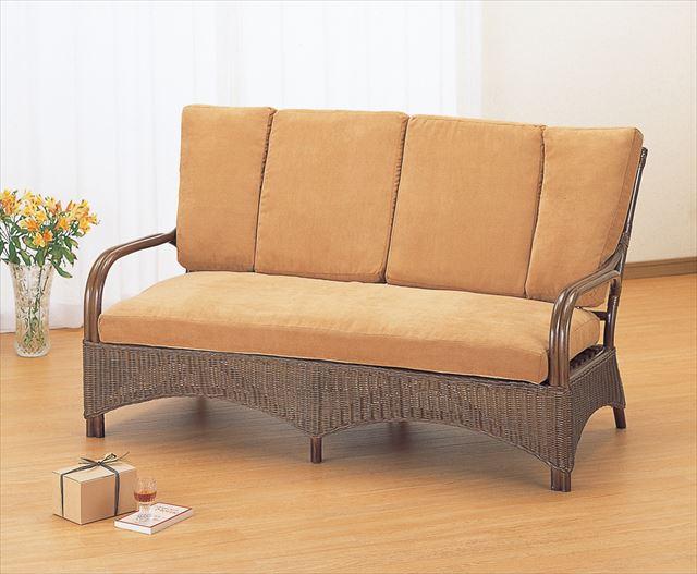 ラブチェアー Y-122B ブラウン 籐 籐家具 チェアー ラブチェアー ソファー アジアンリビングルーム籐 ラタン 製 輸入品 完成品