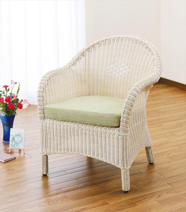 【送料無料】 アームチェアー Y-130 ナチュラル 籐 籐家具 座椅子 椅子 イス アジアンリビングルーム籐 ラタン 製 輸入品 完成品