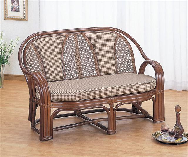 ラブソファー Y-301B ブラウン 籐 籐家具 ラブソファー ソファー アジアンリビングルーム籐 ラタン 製 輸入品 完成品