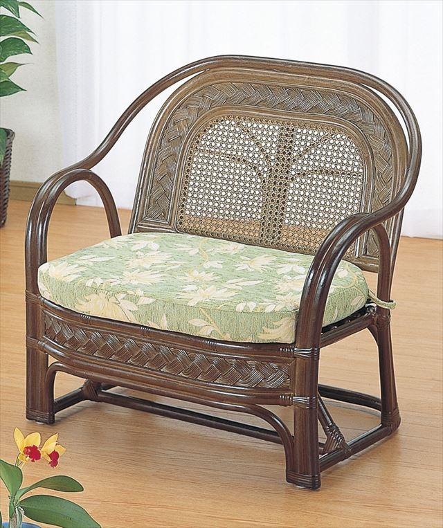 【送料無料】 ワイドアームチェアー Y-501B ブラウン 籐 籐家具 座椅子 椅子 イス アジアンリビングルーム籐 ラタン 製 輸入品 完成品