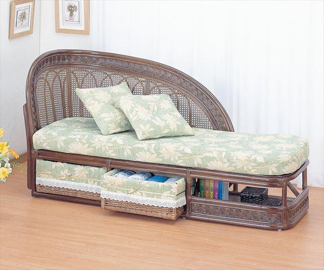 籐カウチソファー Y-505B ブラウン 籐 籐家具 カウチソファー ソファー アジアンリビングルーム籐 ラタン 製 輸入品 完成品