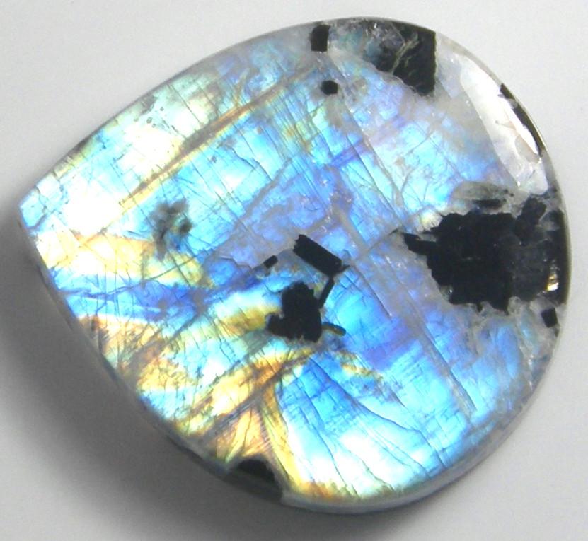 天然石 トルマリンinラブラドライト89.45ct