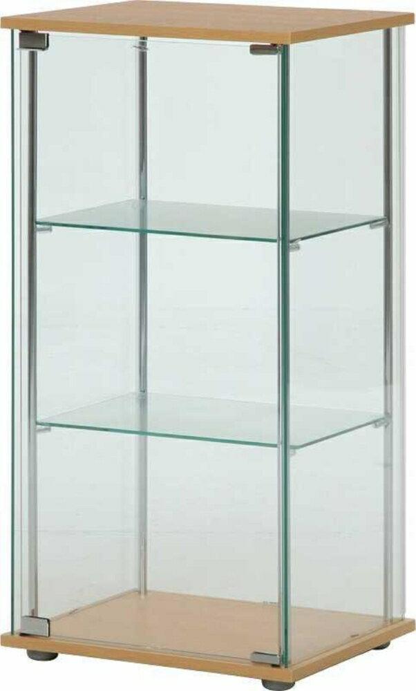 ガラスコレクションケース3段 ブラウン fj-96049送料無料 北欧 モダン 家具 インテリア ナチュラル テイスト 新生活 オススメ おしゃれ 後払い 収納 棚 ラック シェルフ ディスプレイラック キャビネット 見せる