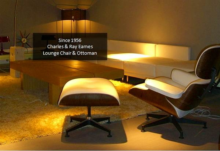 Auc genco charles ray eames lounge chair ottoman in