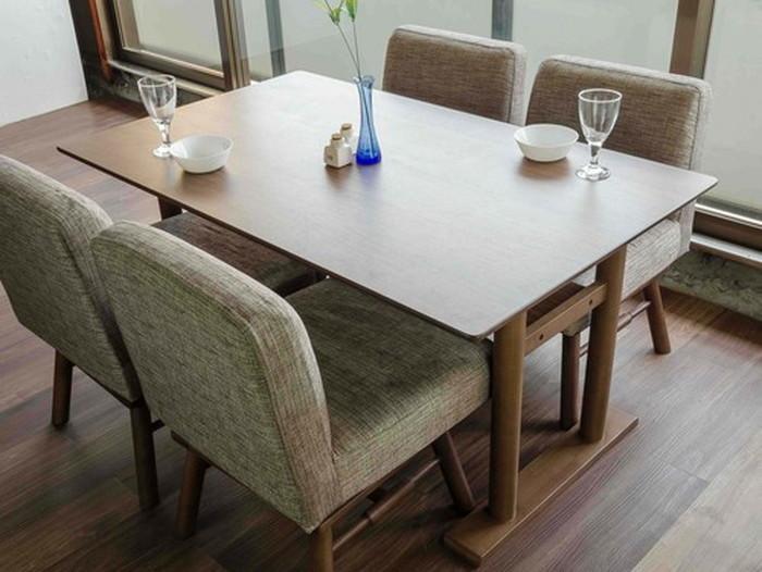 テーブル 幅140cm ミディアムブラウン MITE DINING TABLE 140 MBR ise-4687660s1 北欧 送料無料 クーポン プレゼント 通販 NP 後払い 新生活 オススメ %off ジェンコ 北欧 モダン インテリア ナチュラル テイスト ダイニング ナチュラルテイスト