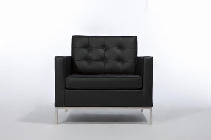 【保証付き】フローレンス・ノール 1205 ラウンジチェア 1p デラックスレザー kaw-sf7225adl送料無料 北欧 モダン 家具 インテリア ナチュラル テイスト 新生活 オススメ おしゃれ 後払い ソファ sofa