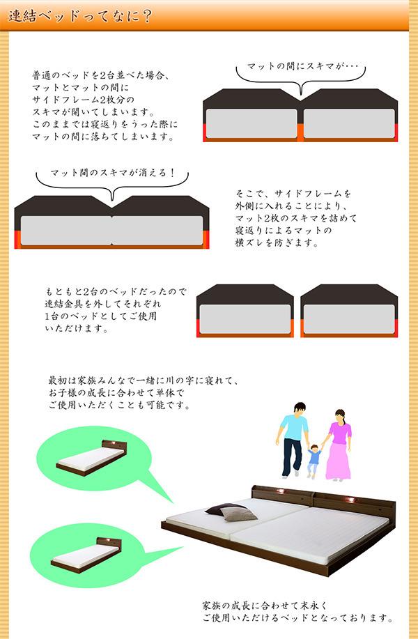 King/ベッド/bed/収納/セット/フレーム/すのこ/棚/照明/ライト/Bed/
