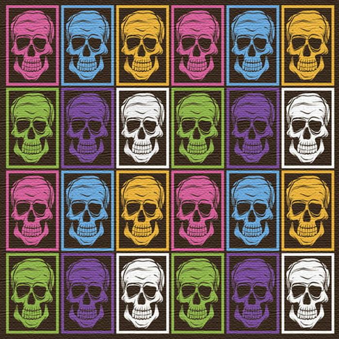 カラフル スカル柄ファブリックボード アートパネル Skull Motif XLサイズ 100cm×100cm lib-4122479s4 北欧 送料無料 クーポン プレゼント 通販 NP 後払い 新生活 オススメ %off ジェンコ 北欧 モダン インテリア ナチュラル テイスト 雑貨