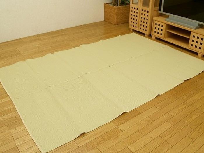 洗えるPPカーペット イースト 二方BE 江戸間 6畳 261×352cm ike-1879937s19送料無料 北欧 モダン 家具 インテリア ナチュラル テイスト 新生活 オススメ おしゃれ 後払い マット 絨毯 ラグ カーペット リビング