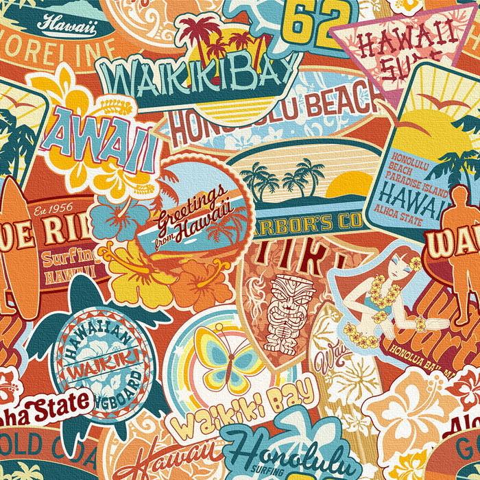 ハワイアンステッカー アートパネル popa-1803-010 XLサイズ 100cm×100cm lib-6112156s4送料無料 北欧 モダン 家具 インテリア ナチュラル テイスト 新生活 オススメ おしゃれ 後払い 雑貨