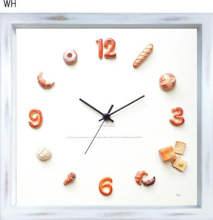 パン 掛時計 Horloge du pain アンティークホワイト KK-1001 kar-5091240s1送料無料 北欧 モダン 家具 インテリア ナチュラル テイスト 新生活 オススメ おしゃれ 後払い クロック 掛け 置き