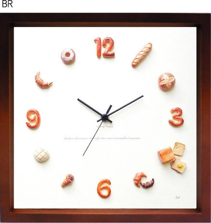 パン 掛時計 Horloge du pain ブラウン KK-1003 kar-5091240s3送料無料 北欧 モダン 家具 インテリア ナチュラル テイスト 新生活 オススメ おしゃれ 後払い クロック 掛け 置き