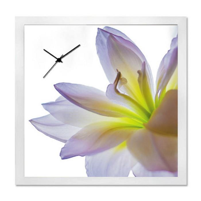 アート+時計 A-CLOCK Lily ホワイト AC-1001 kar-5620671s1送料無料 北欧 モダン 家具 インテリア ナチュラル テイスト 新生活 オススメ おしゃれ 後払い クロック 掛け 置き