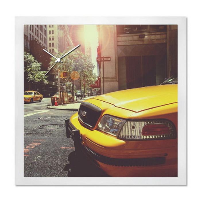 アート+時計 A-CLOCK Yellow Cab ホワイト AC-1004 kar-5620676s1送料無料 北欧 モダン 家具 インテリア ナチュラル テイスト 新生活 オススメ おしゃれ 後払い クロック 掛け 置き
