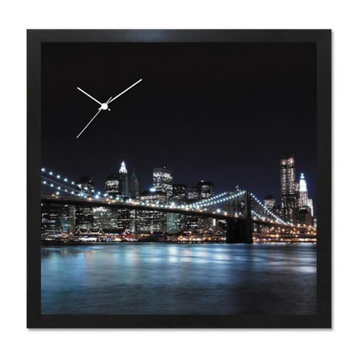 アート+時計 A-CLOCK Brooklyn Bridge ブルックリンブリッジ ブラック AC-1005 kar-5620680s2送料無料 北欧 モダン 家具 インテリア ナチュラル テイスト 新生活 オススメ おしゃれ 後払い クロック 掛け 置き