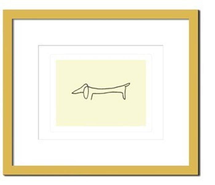 インテリアアート Pablo Picasso Le chien ヒモ付 AB-10659 kar-3097051s1送料無料 北欧 モダン 家具 インテリア ナチュラル テイスト 新生活 オススメ おしゃれ 後払い 雑貨