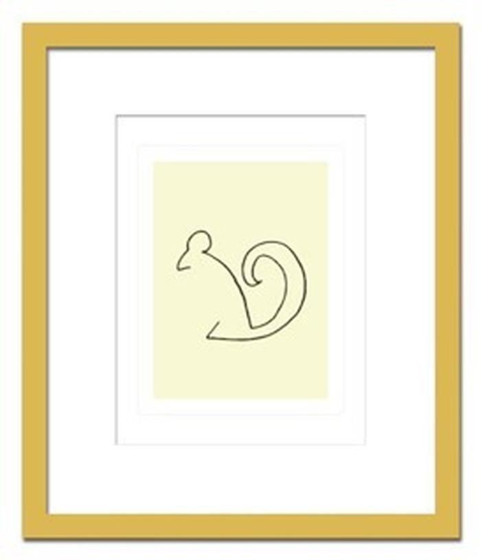 インテリアアート Pablo Picasso L'Ecureuil ヒモ付 AB-10663 kar-3097055s1送料無料 北欧 モダン 家具 インテリア ナチュラル テイスト 新生活 オススメ おしゃれ 後払い 雑貨