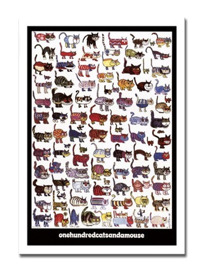 インテリアアート Vittorio 100 Cats and a Mouse ヒモ付 AN-10612 kar-3097127s1送料無料 北欧 モダン 家具 インテリア ナチュラル テイスト 新生活 オススメ おしゃれ 後払い 雑貨