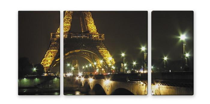 CANVAS ART キャンバスアート Paris Eiffel Tower パリ エッフェル塔 Lサイズ W1000×H500 3枚組 US-2002 kar-4999344s2 北欧 送料無料 クーポン プレゼント 通販 NP 後払い 新生活 オススメ %off ジェンコ 北欧 モダン インテリア ナチュラル テイスト 雑