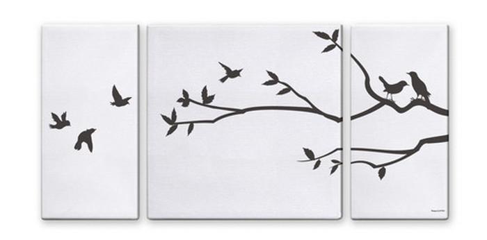 CANVAS ART キャンバスアート Tree&Bird2 Lサイズ W1000×H500 3枚組 US-4006 kar-5620999s2 北欧 送料無料 クーポン プレゼント 通販 NP 後払い 新生活 オススメ %off ジェンコ 北欧 モダン インテリア ナチュラル テイスト 雑貨