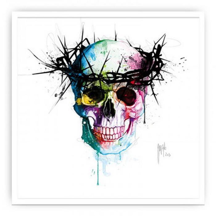 インテリアアート Murciano Patrice Jesus'Skull ヒモ付 AP-10028 kar-6261543s1 北欧 送料無料 クーポン プレゼント 通販 NP 後払い 新生活 オススメ %off ジェンコ 北欧 モダン インテリア ナチュラル テイスト 雑貨
