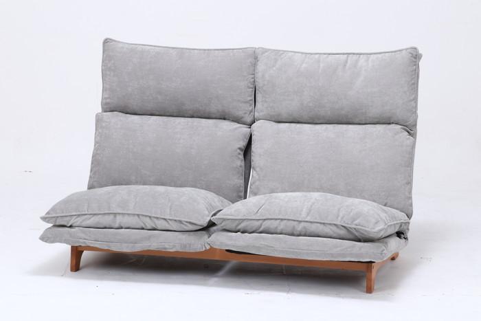 ダブルクッション座椅子 フィット 2P グレー XY-CR-355-7F-N fj-50808送料無料 北欧 モダン 家具 インテリア ナチュラル テイスト 新生活 オススメ おしゃれ 後払い イス オフィス デスクチェア