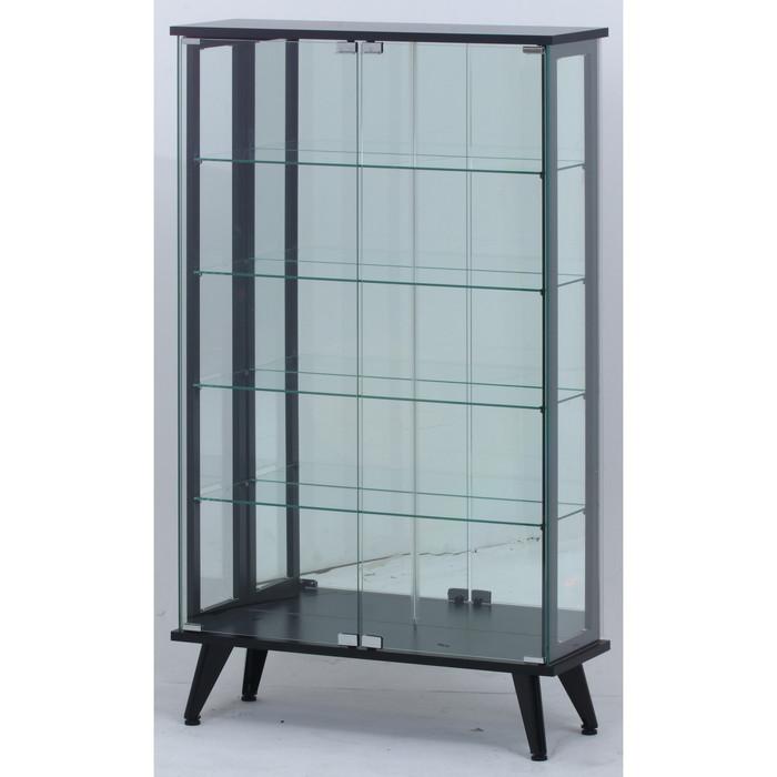 ガラスディスプレイラック ブラック TMG-G109 fj-98883送料無料 北欧 モダン 家具 インテリア ナチュラル テイスト 新生活 オススメ おしゃれ 後払い 収納 棚 ラック シェルフ ディスプレイラック キャビネット 見せる