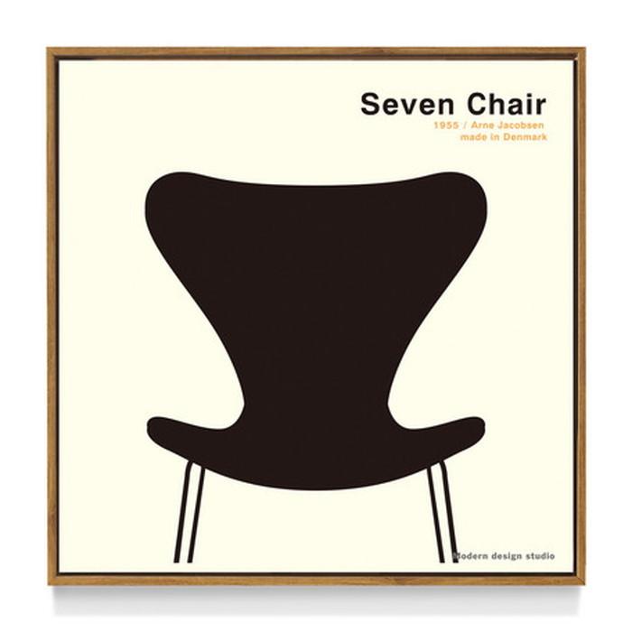 アートフレーム やすかわ としあき ND Concept Frame T. Yasukawa Seven Chair 500x500x30mm ITY-60920 bic-6942269s1送料無料 北欧 モダン 家具 インテリア ナチュラル テイスト 新生活 オススメ おしゃれ 後払い 雑貨